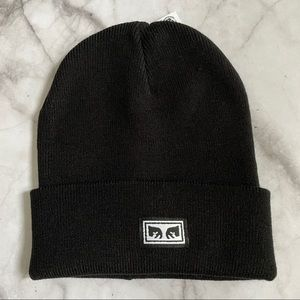Obey Clothing black knit beanie toque
